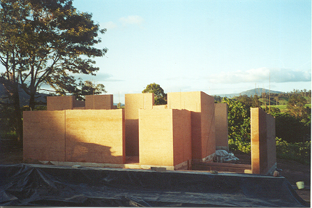 Rammed earth walls for the Ecocentre at Crystal Waters, Queensland