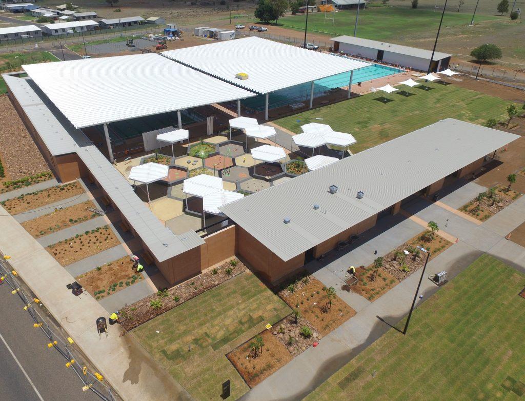 Rammed earth, Aquatic Centre, Central Queensland