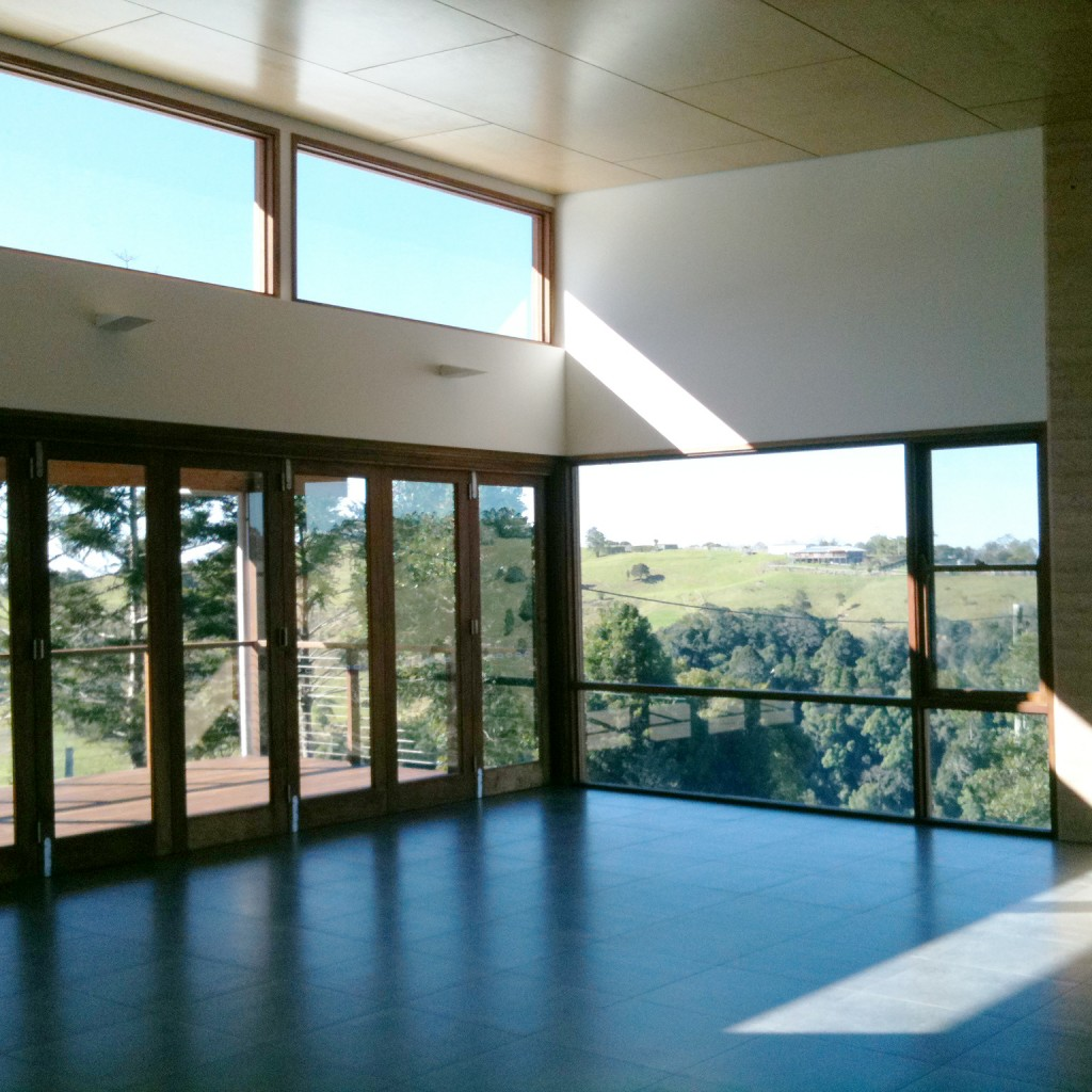 Rammed earth house, Dining room.