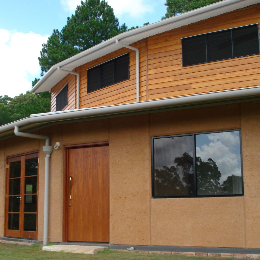 Rammed earth and timber cottage, Sunshine Coast