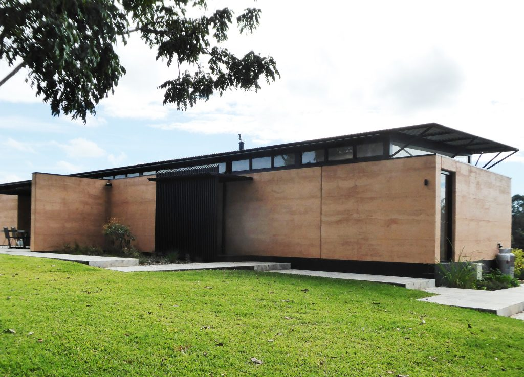 Rammed earth Avonlea house