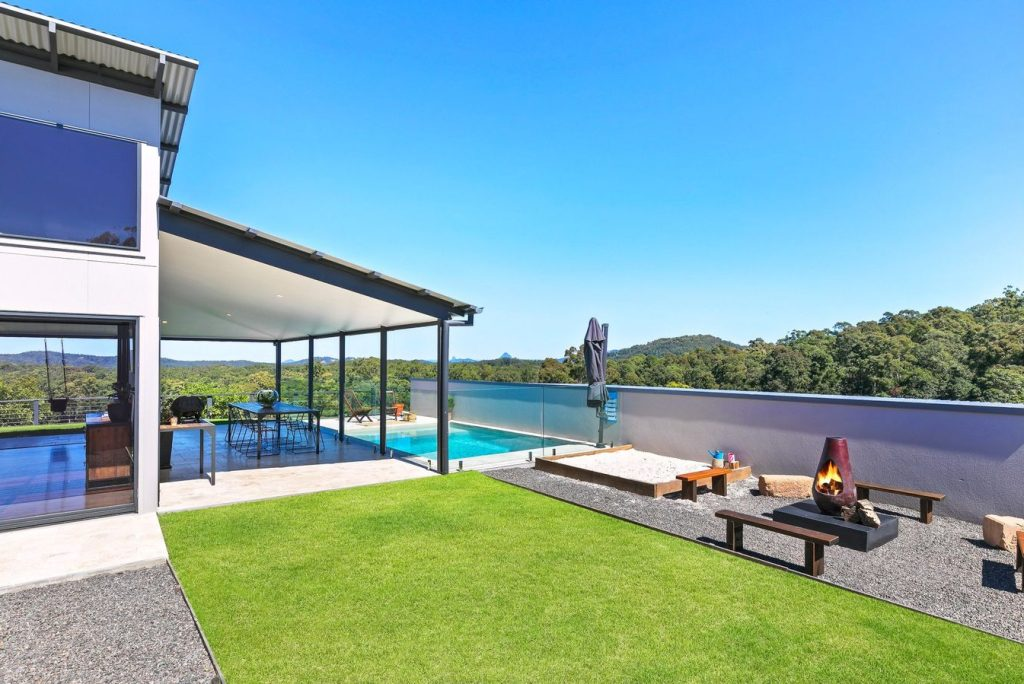 Garden and pool, Palmview,