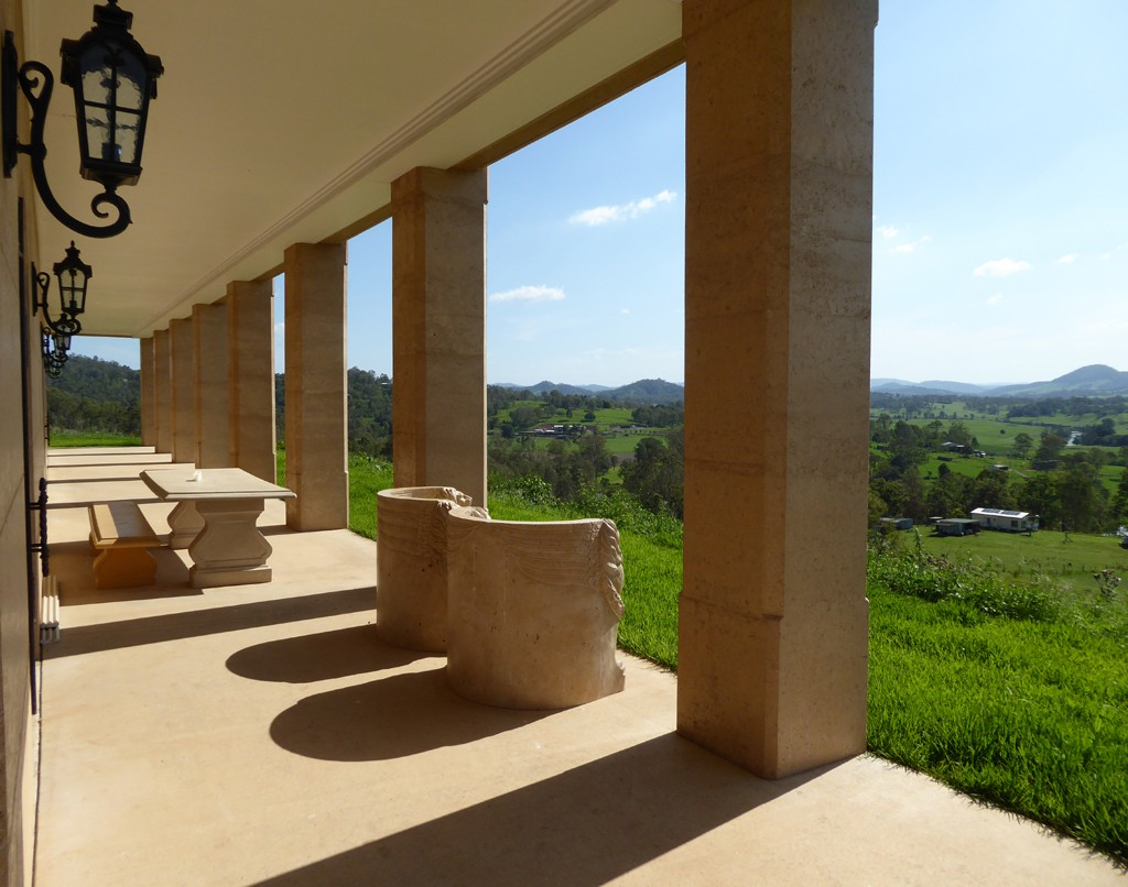 Columns of rammed earth, Gympie