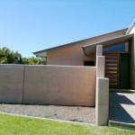 Rammed earth home, garden wall, SE Queensland