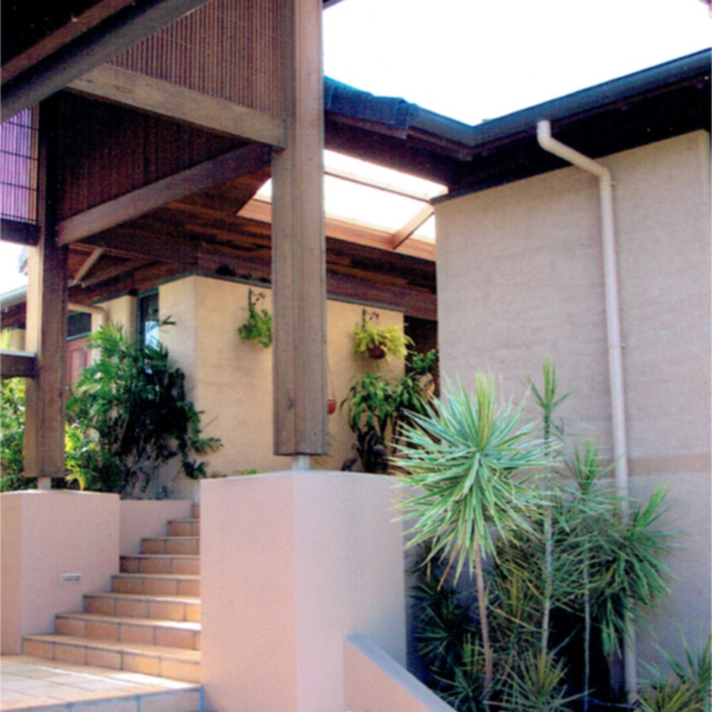 entry staircase rammed earth coolum