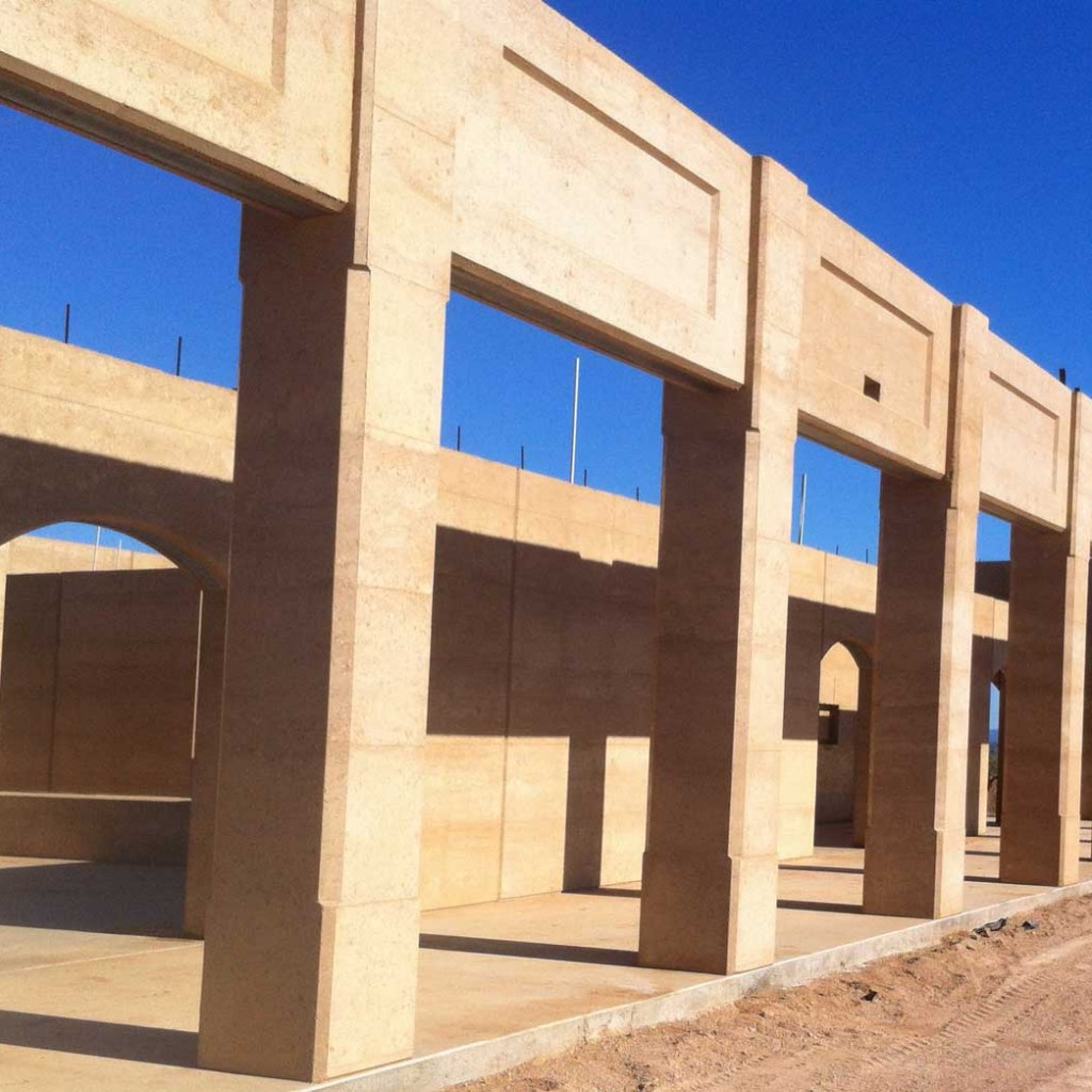 Rammed earth arches and columns, Gympie