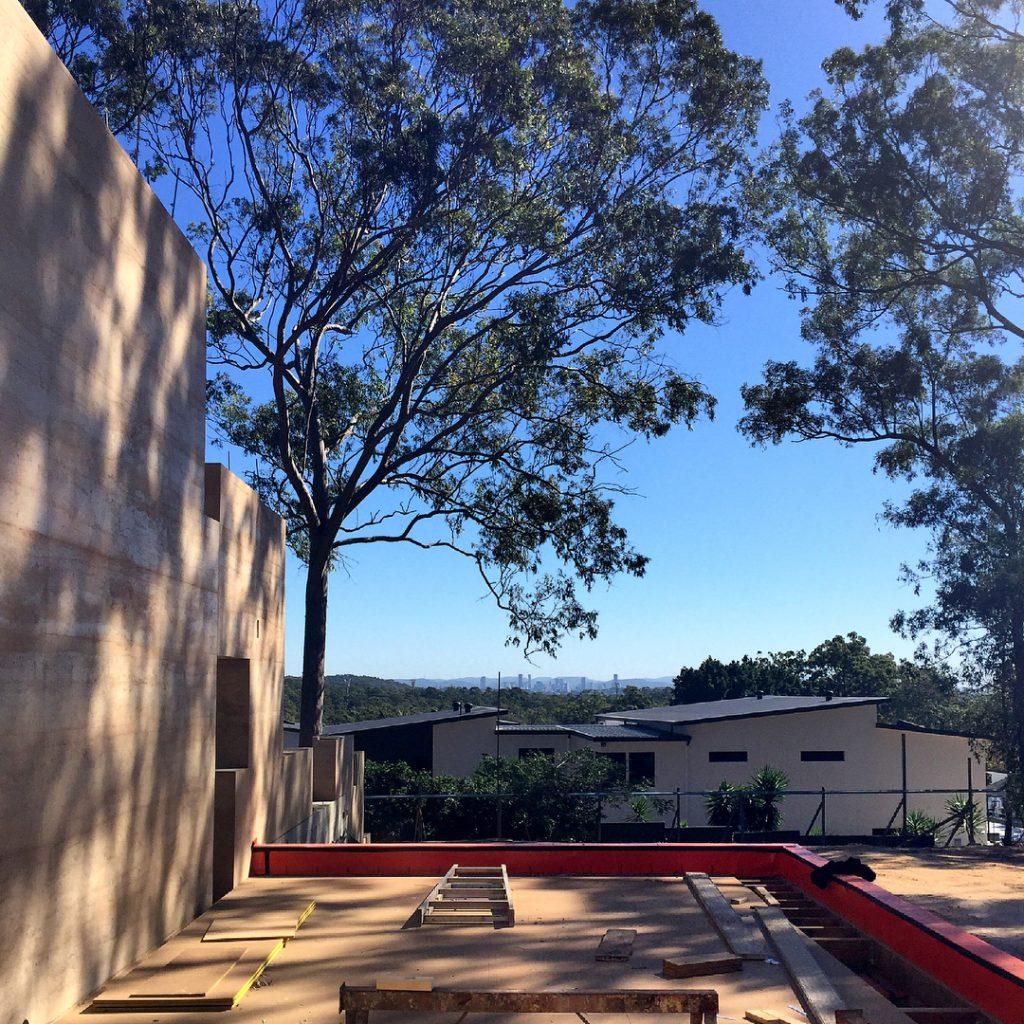 6.6m high rammed earth wall, Brisbane