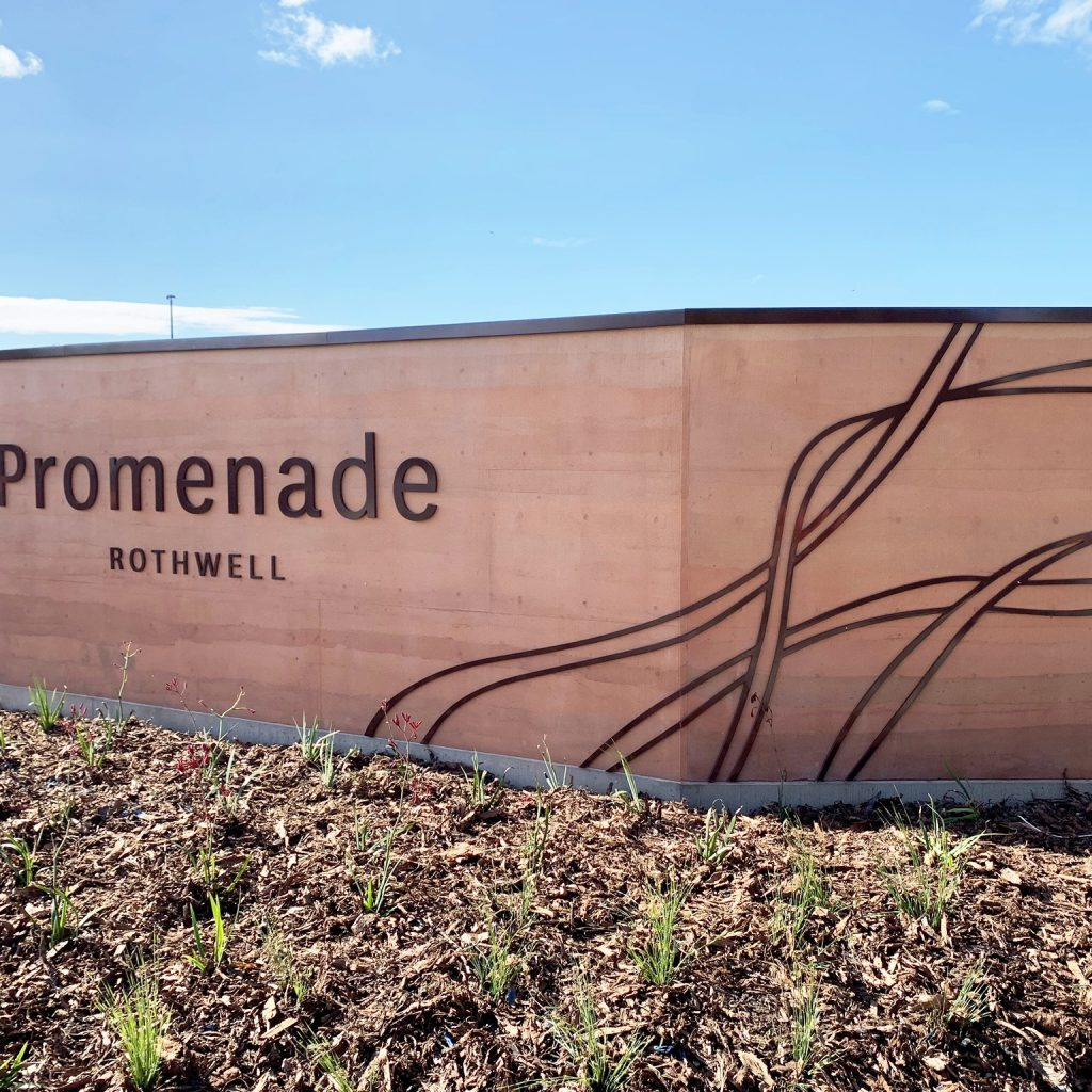 Stockland rammed earth