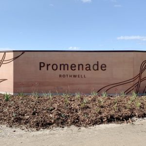 Stockland rammed earth entry