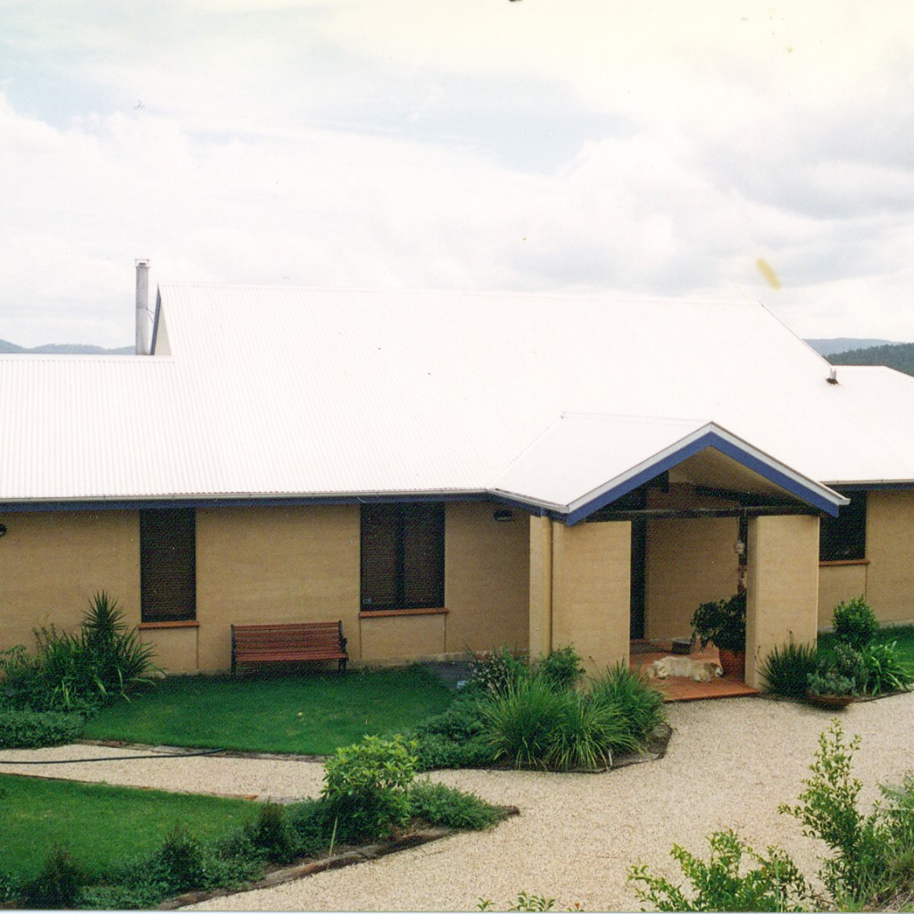 Rammed earth family home, Samford valley, Queensland