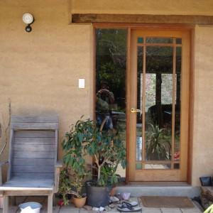 Doorway detail, rammed earth home