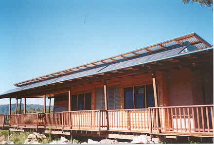 Rammed earth EcoCentre at Crystal Waters, Queensland