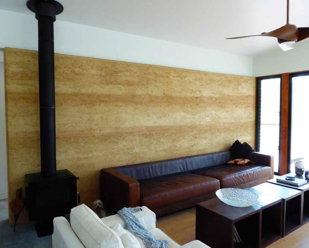 decorative rammed earth wall