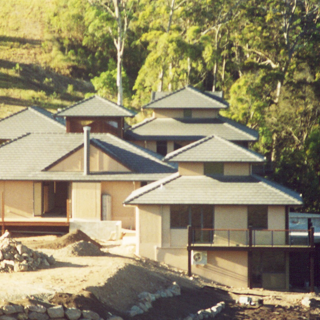 Coolum Chase rammed earth house, Sunshine Coast