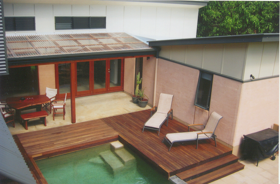 Multi award winning rammed earth, colourbond and fc sheeting home, near Noosa.