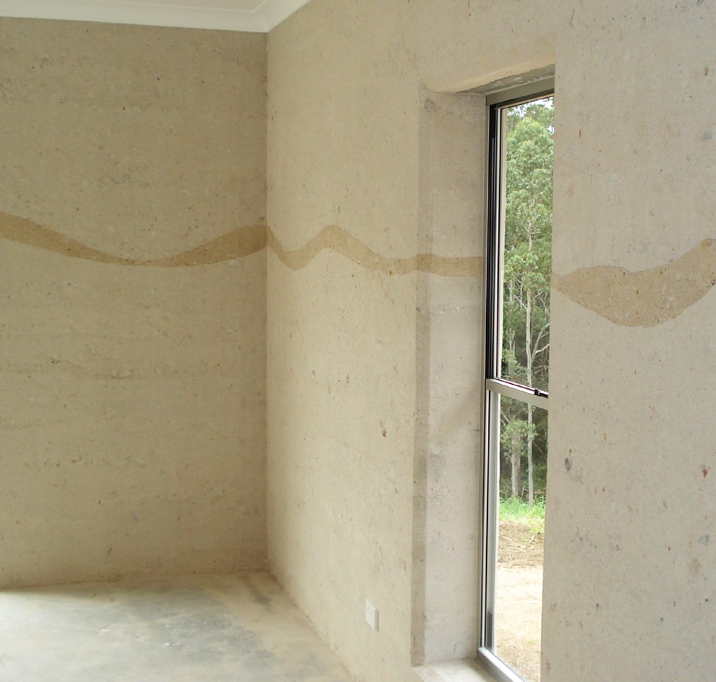 rammed earth ribbon colour