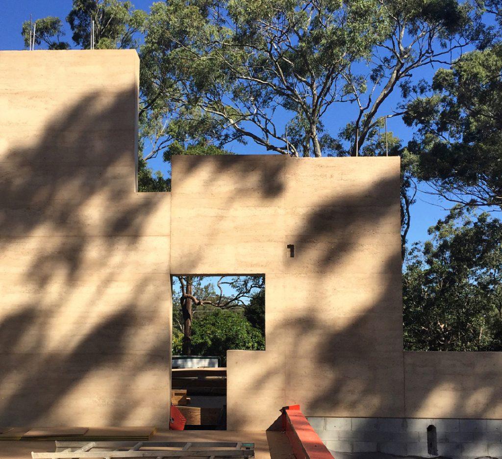 6.6m rammed earth wall, Brisbane