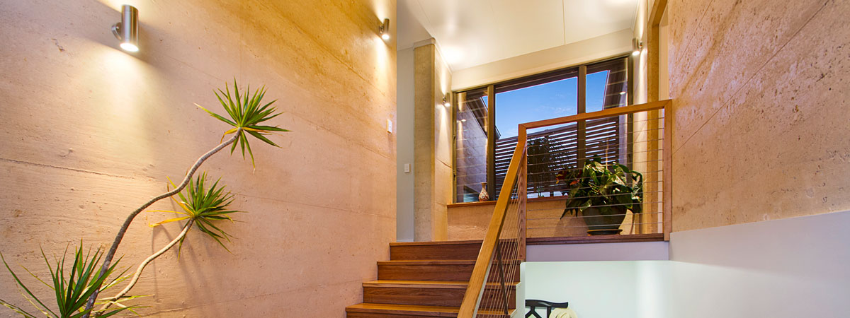 Rammed earth staircase, Queensland